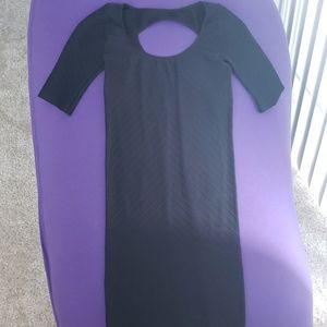 Bebe black bodycon dress